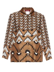 Max Mara Vite Shirt Brown Print