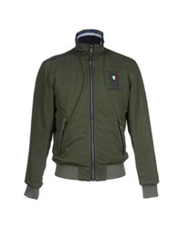 Italian Rugby Style Jackets Military Green