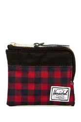 Herschel Johnny Buffalo Plaid Wallet Red
