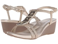 Bandolino Hettie Light Gold Synthetic Synthetic Women's Sandals Beige