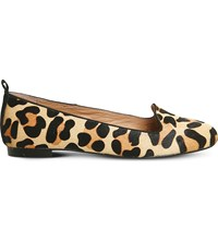 Office Royal Leopard Print Leather Loafers New Leopard Cow Hair