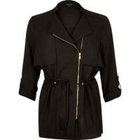 River Island Womens Black Zipped Lightweight Jacket