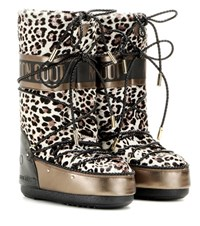 Jimmy Choo X Moon Boot Mb Classic Lea Leather And Calf Hair Boots Multicoloured