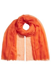 Agnona Sheer Cashmere Scarf Orange