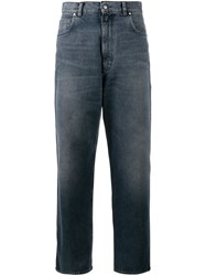 Golden Goose Deluxe Brand Cropped Boyfriend Jeans Blue