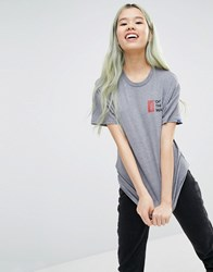 Vans Oversized T Shirt With Off The Wall Logo Multi