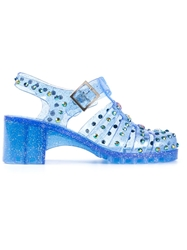 Markus Lupfer Embellished Jelly Sandals Blue
