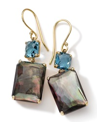 Ippolita 18K Gold Rock Candy Gelato Topaz And Black Shell Earrings