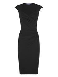 Hotsquash Short Sleeved Dress In Clever Fabric Black