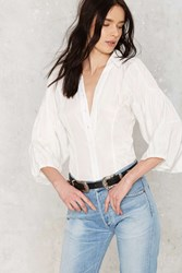 Gathered Thoughts Button Up Blouse