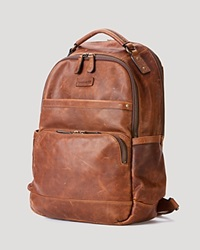Frye Logan Leather Backpack Cognac