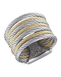 Alor Two Tone Cable Ring Gray Gold