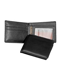 Perry Ellis Gramercy Soft Lambskin Passcase Wallet Black