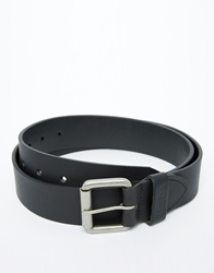 Barbour Matte Leather Belt Black