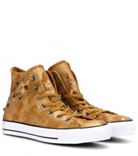 Converse Chuck Taylor All Star Metallic Suede High Top Sneakers Gold