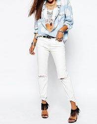 One Teaspoon Awesome Baggies Distressed Jeans In Off White Cream