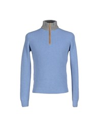 Della Ciana Knitwear Turtlenecks Men Azure