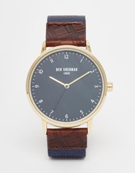 Ben Sherman Portobello Heritage Leather Watch Blue