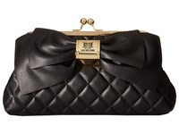 Love Moschino Quilted Bow Clutch Black Clutch Handbags