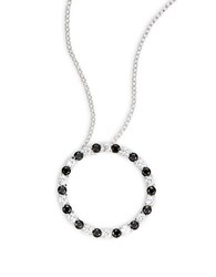 Lord And Taylor Cubic Zirconia Circle Pendant Necklace