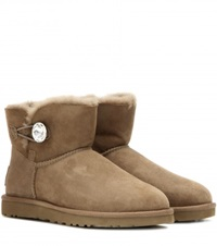 Ugg Mini Bailey Button Embellished Boots Brown