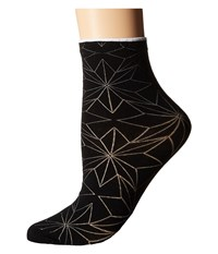 Falke Spring Star Sock Black Women's Crew Cut Socks Shoes