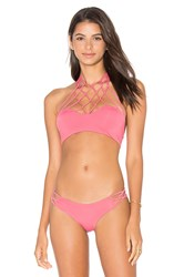 San Lorenzo High Neck Bikini Top Pink