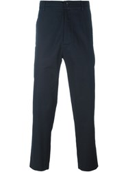 Societe Anonyme Punto Cavallo Stitch Detail Cropped Trousers Blue