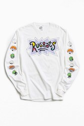 Urban Outfitters Rugrats Faces Long Sleeve Tee White