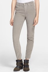 Free People High Rise Stretch Corduroy Pant Gray