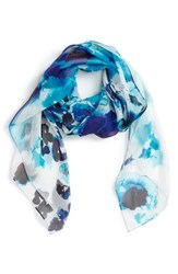 Women's Nordstrom 'Winded Blooms' Silk Chiffon Square Scarf