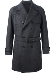 Neil Barrett Belted Trench Coat Grey