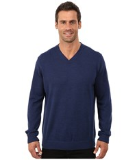 Robert Graham Newcastle V Neck Sweater Navy Men's Sweater