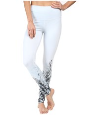 Alo Yoga High Waisted Airbrush Leggings Winter Landscape Women's Casual Pants Blue