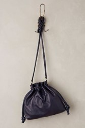 Anthropologie Henri Leather Pouch Navy