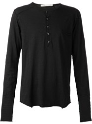 Poeme Bohemien Henley Shirt Black