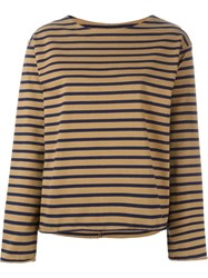 Mih Jeans Striped Sweater Brown
