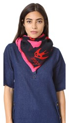 Mcq By Alexander Mcqueen Swallow Swarm Scarf Shocking Pink