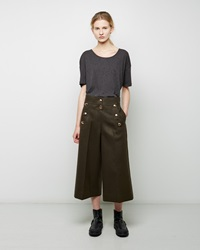 Sacai Melton Cropped Sailor Pant Khaki