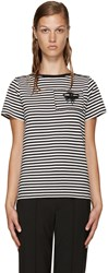 Marc Jacobs Black And White Striped Eye T Shirt