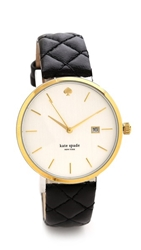 Kate Spade Metro Grand Quilted Watch Black