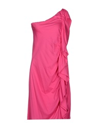 Ralph Lauren Black Label Knee Length Dresses Fuchsia