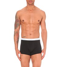 Dsquared2 Pack Of Two Logo Print Stretch Jersey Trunks Black