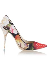 J.Crew Sophia Webster Lola Floral Print Satin Pumps Pink