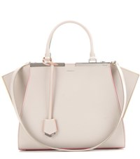 Fendi 3Jours Leather Tote Grey