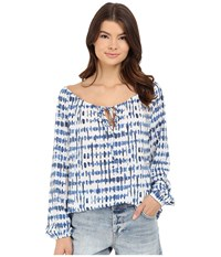 Bb Dakota Galia Stepping Stones Printed Top Multi Women's Clothing