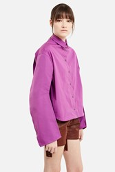 Y Project Button Down Shirt Purple