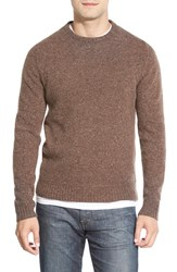 Men's Wallin And Bros. 'Donegal' Crewneck Sweater Brown Turk