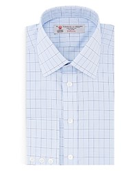 Turnbull And Asser Windowpane Classic Fit Dress Shirt 100 Bloomingdale's Exclusive Blue Navy
