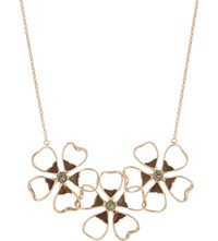 Ted Baker Lorann Enamel Flower Necklace Jet